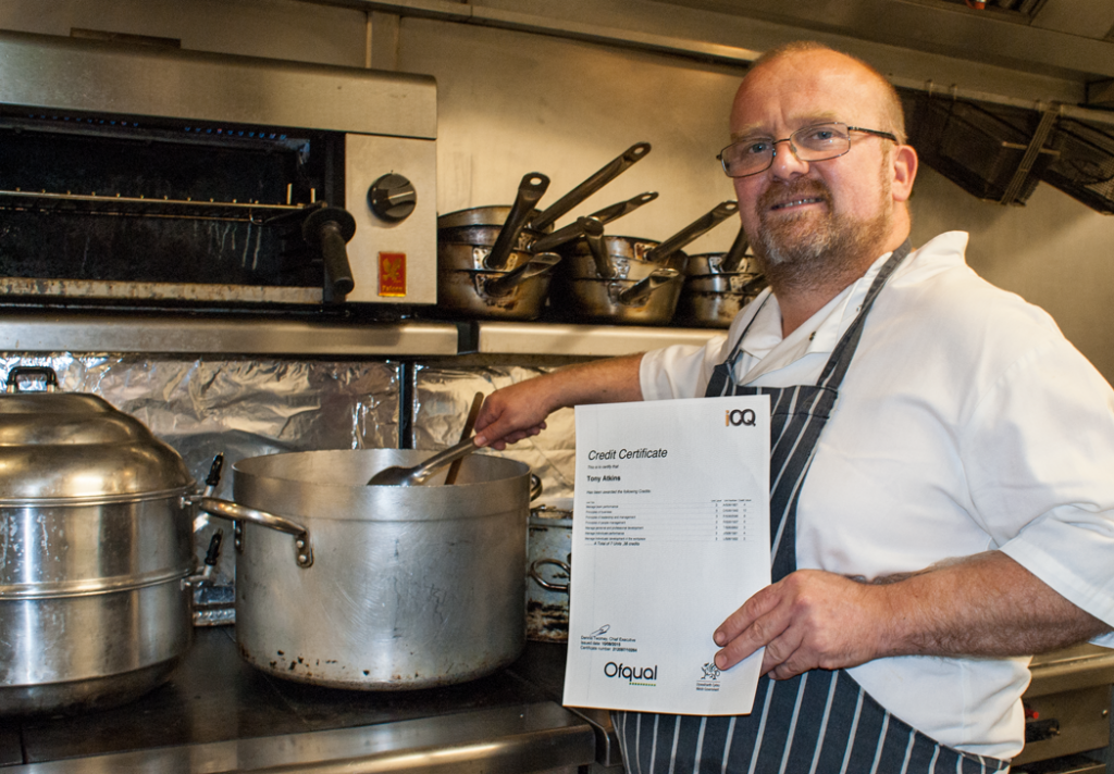 Tony Atkins Head Chef Certificate Handout Award Kitchen Sam's Chop House